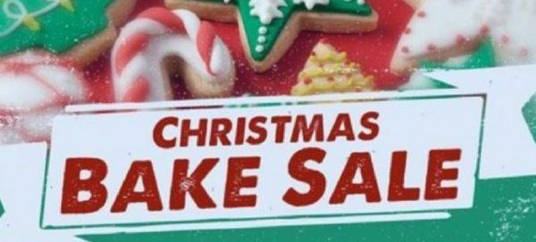 Christmas bake sale banner