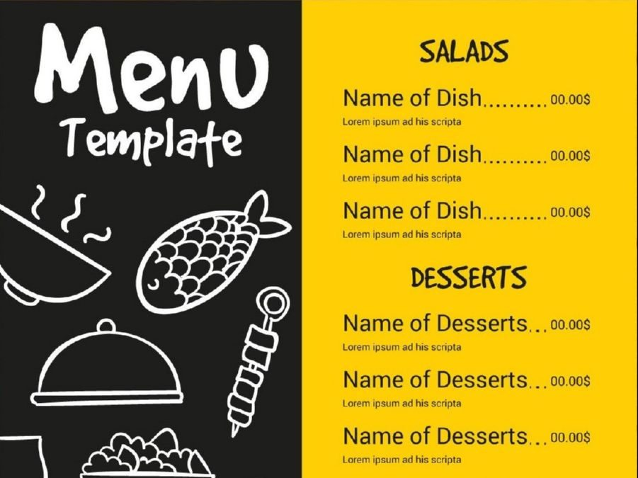 Research on the internet for menu card ideas