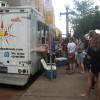 line at a food truck