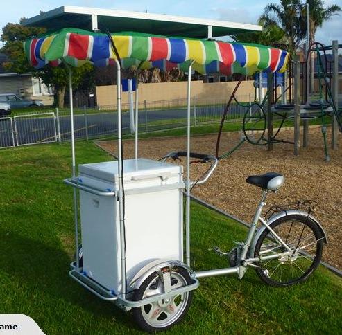 solar powered ice cream bike