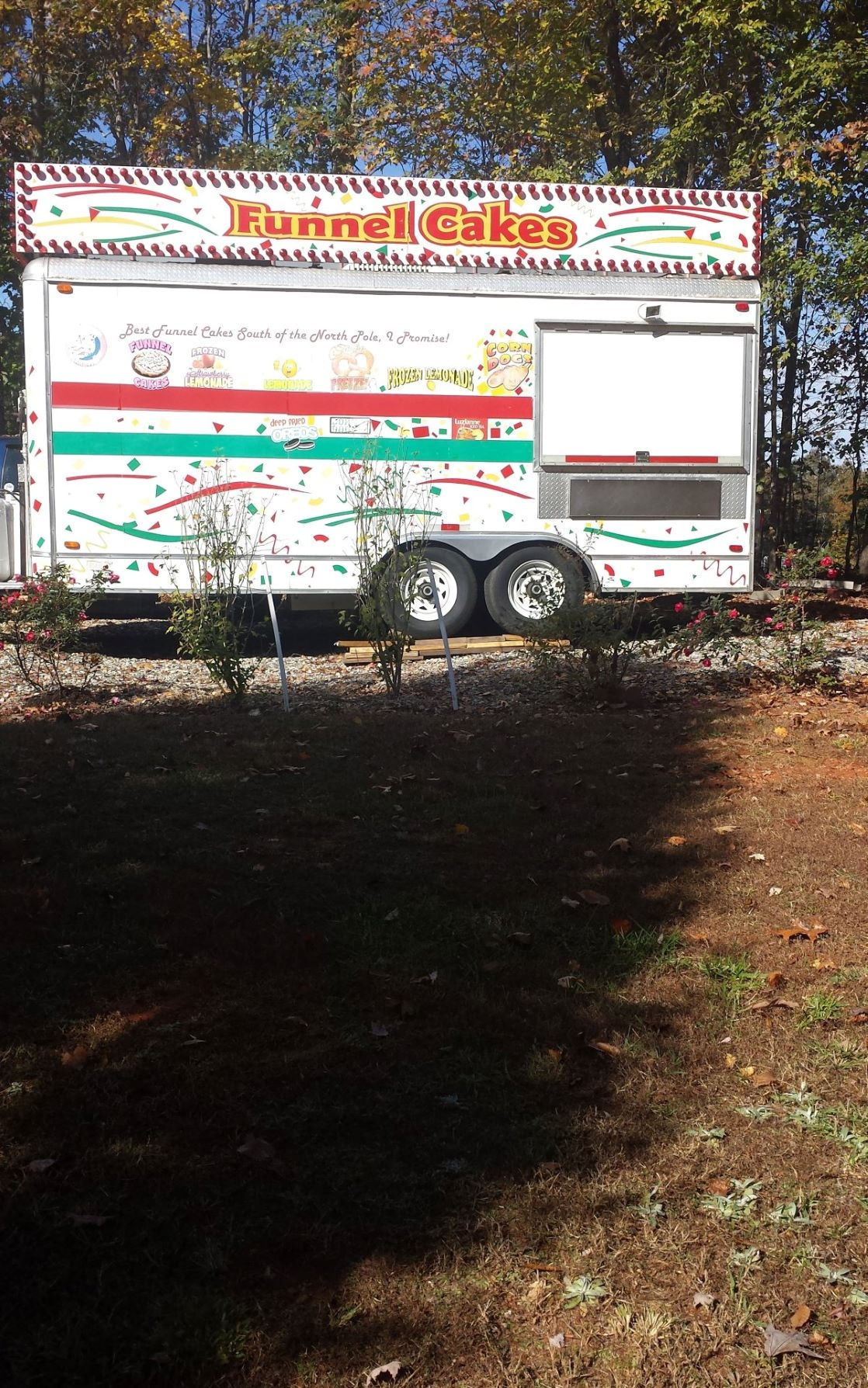 Used Funnel Cake Concession Trailer For Sale With Two Deep