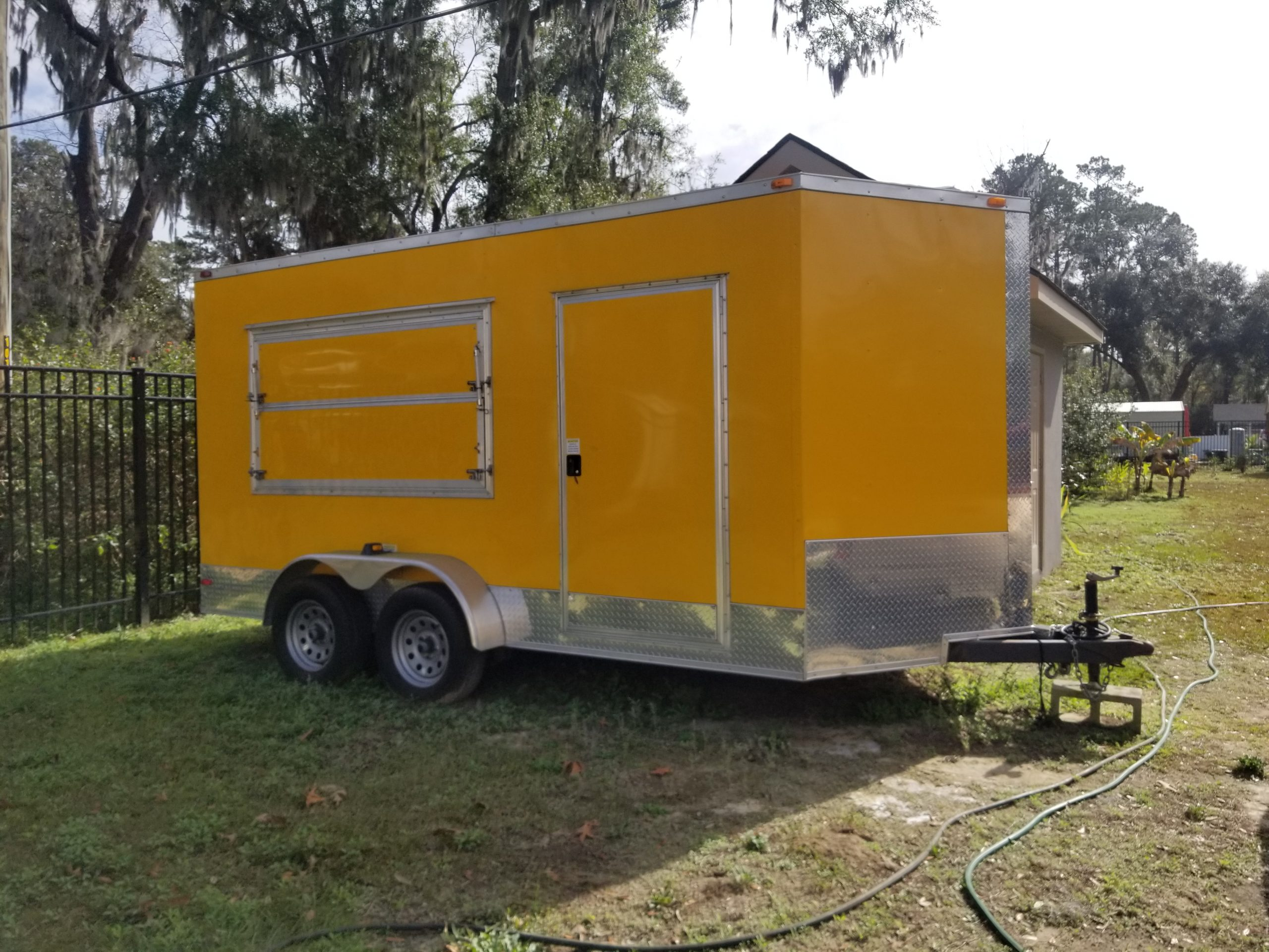 Shaved ice trailer used
