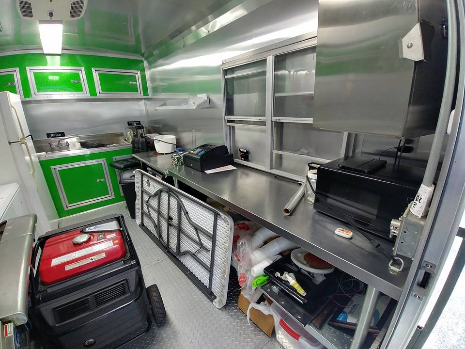 2016 Fully-Loaded Green Food Trailer For Sale in Lakeland ...