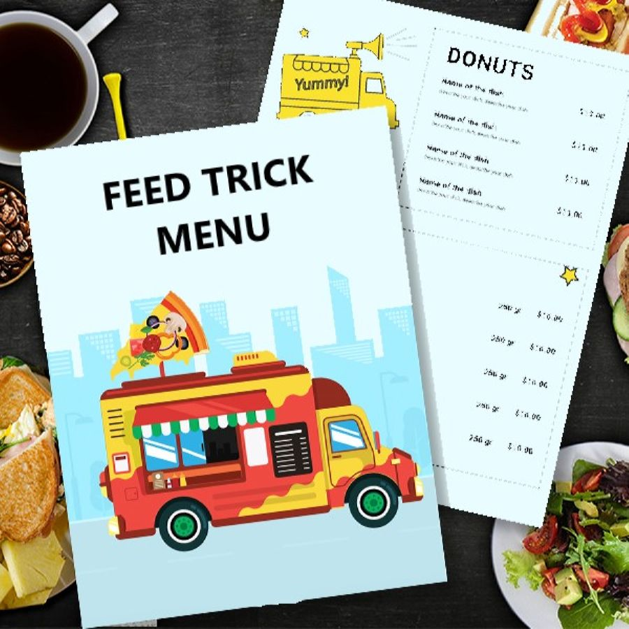 Details are important in creating a professional food truck menu card