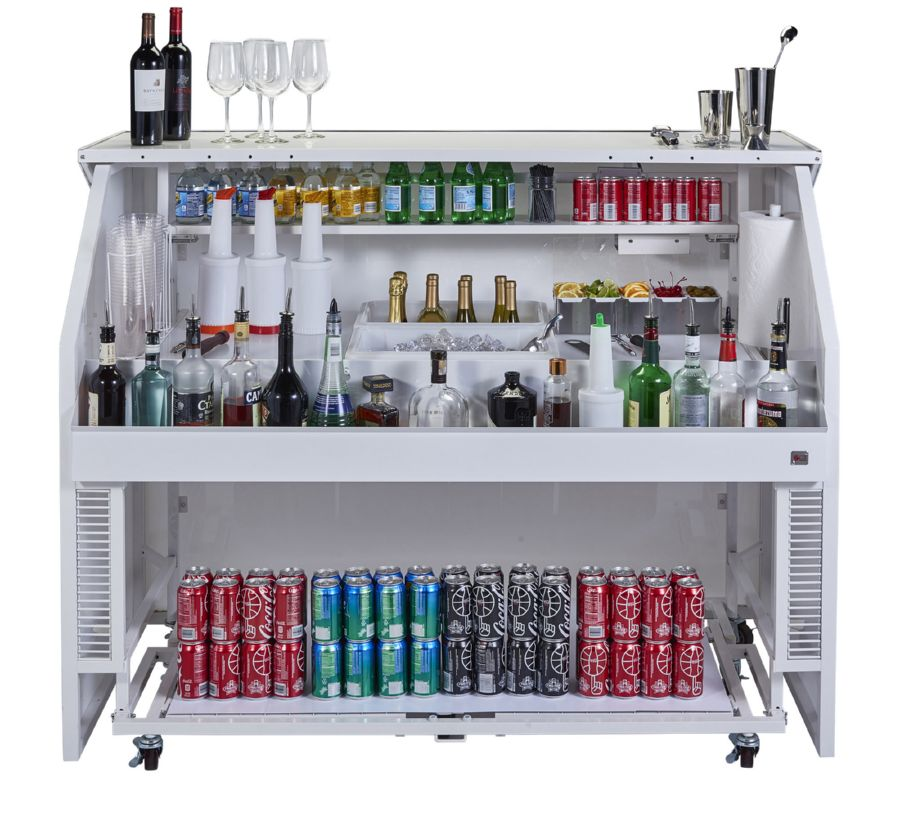 A portable or mobile bar does not have to be a big thing to move