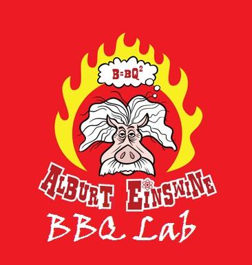 Albert EinSwine's BBQ Lab Sample Sign