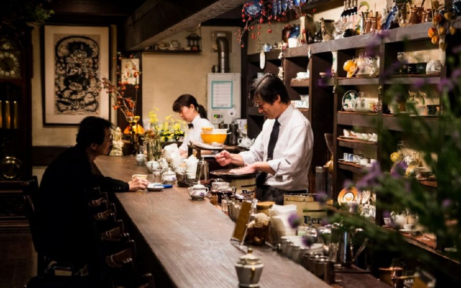 Cafés or kissaten are a major part of Japanese dining culture