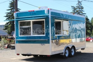Concession trailer build from Quality Food Trailers.