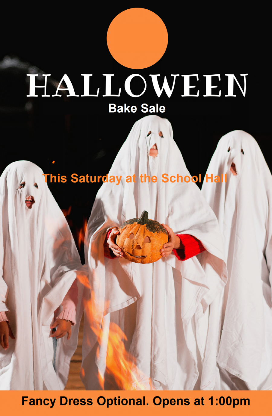 Funny Halloween Bake Sale Posters