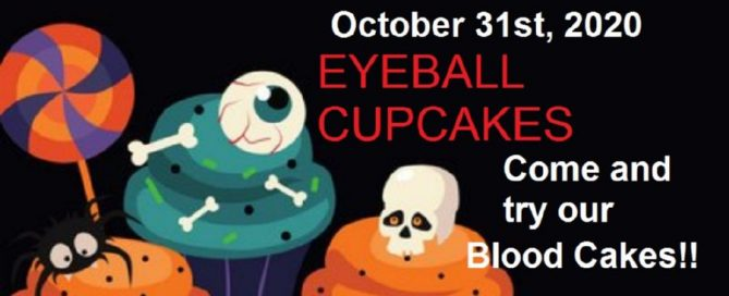 Having a bake sale with Halloween-themed cakes is great fun