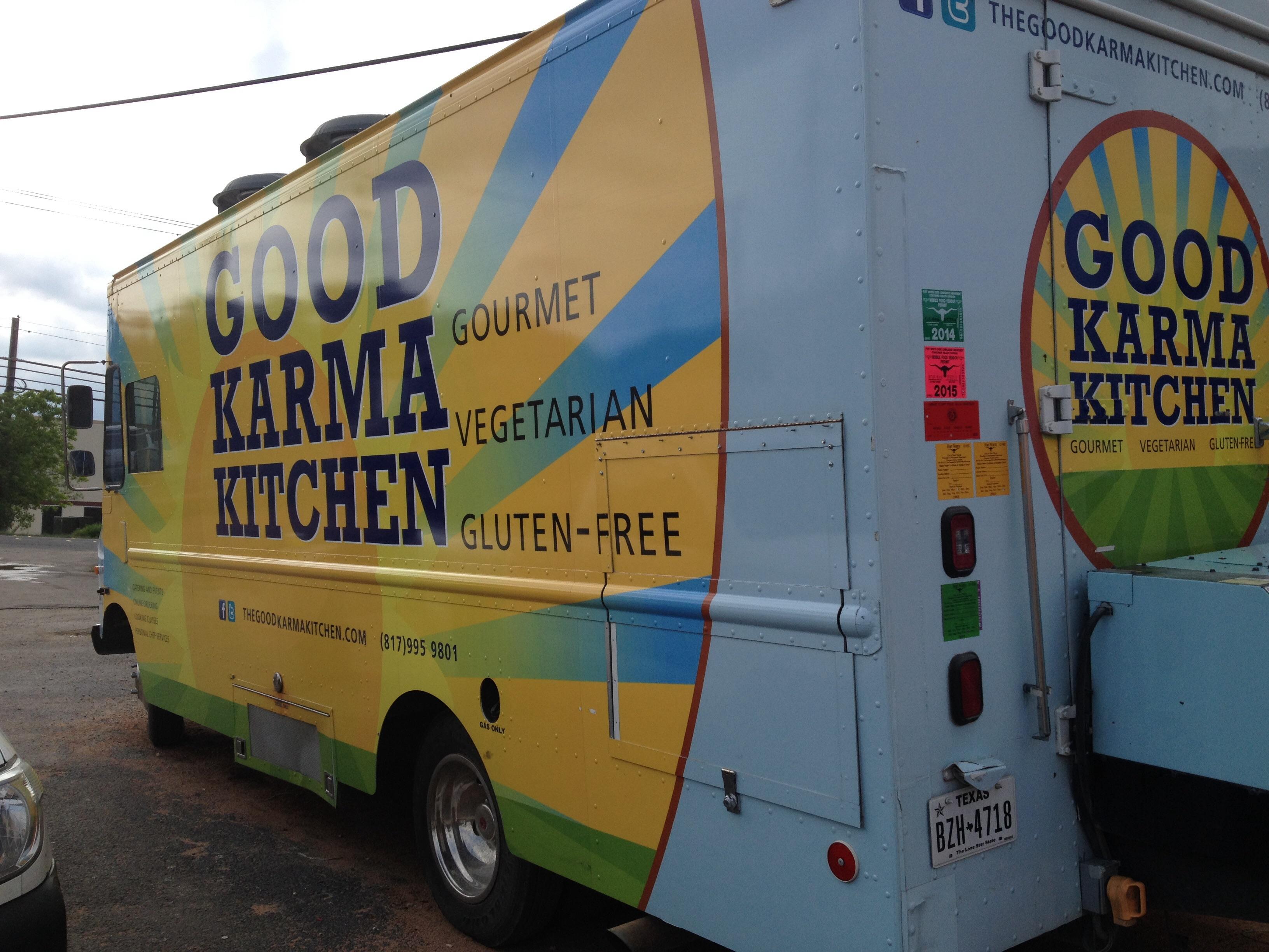 karma kitchen food truck for sale in san antonio texas. Black Bedroom Furniture Sets. Home Design Ideas