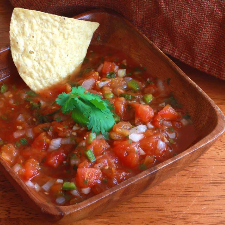Salsa is the popular Mexican spicy tomato sauce for almost every dish, and dipping