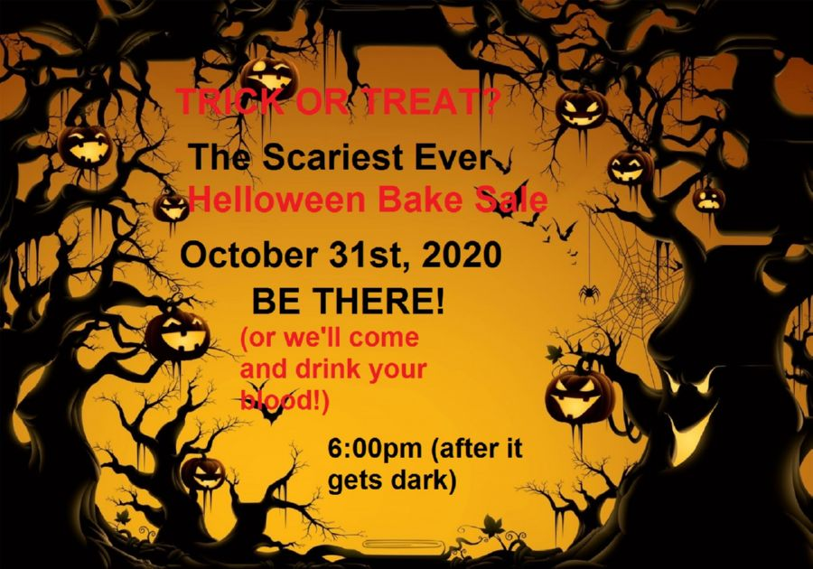 Scary Halloween Bake Sale Posters