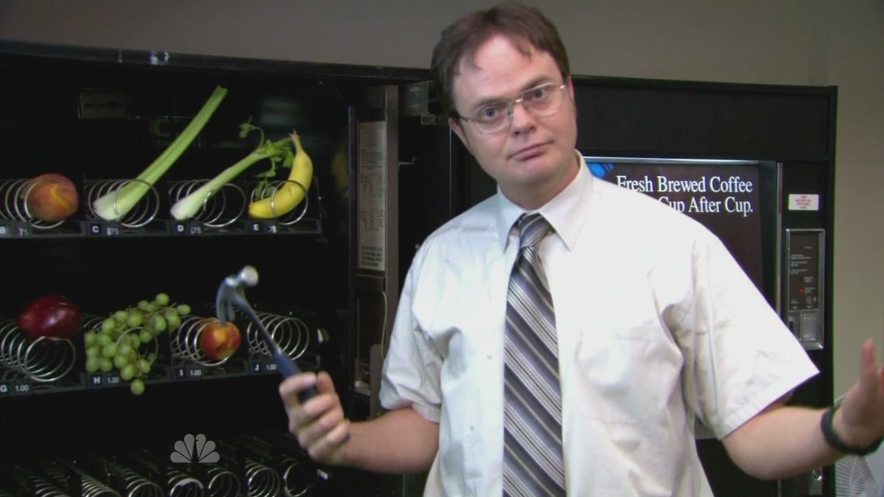 Image result for the office show vending machine