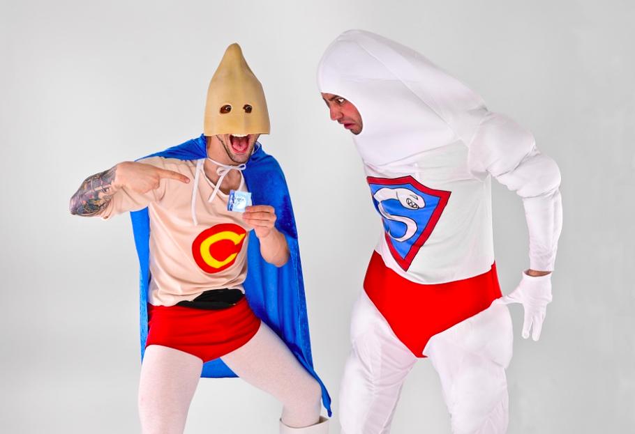 condom super hero