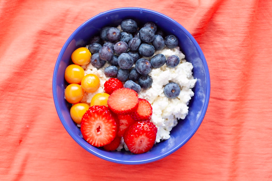 cottage cheese fruit