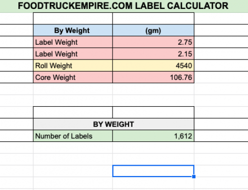 How to Determine How Many Food Labels You Have Left (Free Calculator)