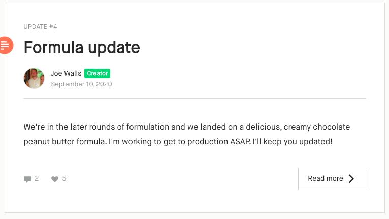 formula update