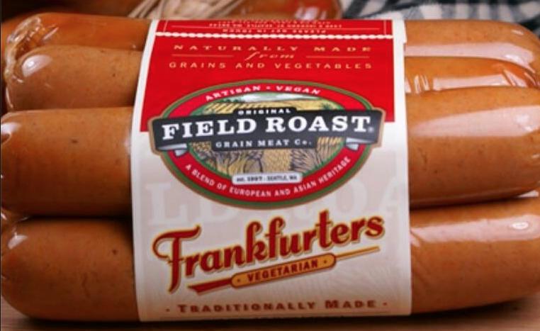 frankfurters vegetarian hot dog