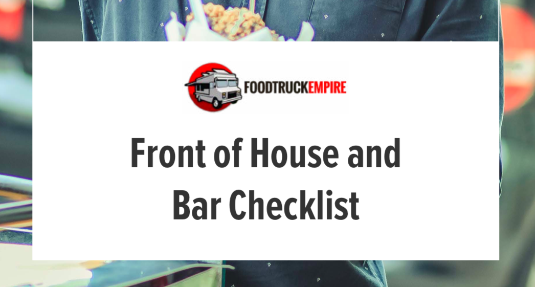 front of house checklist