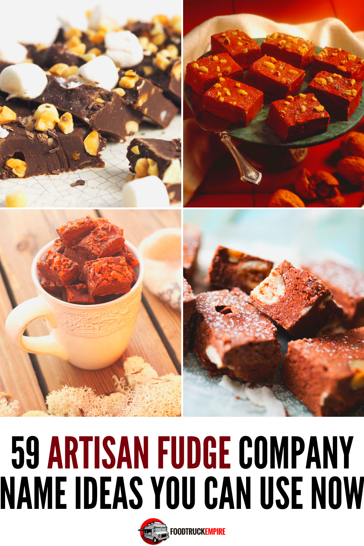 fudge company name ideas