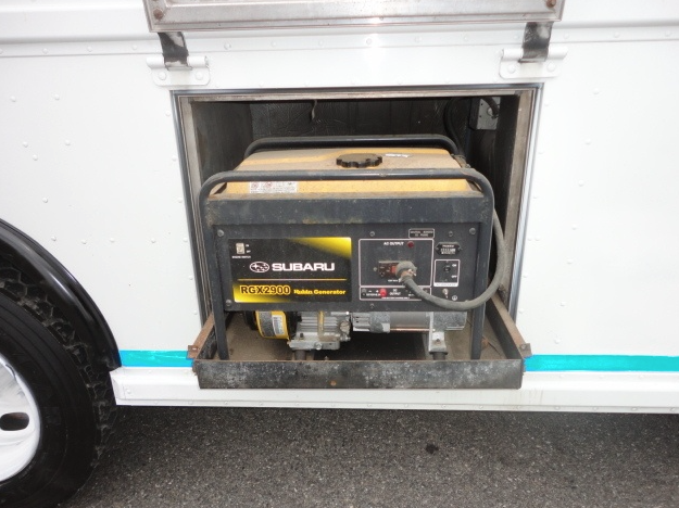 Example of generator built into a food truck.