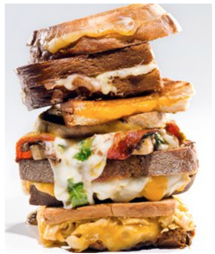 grilled cheese tower