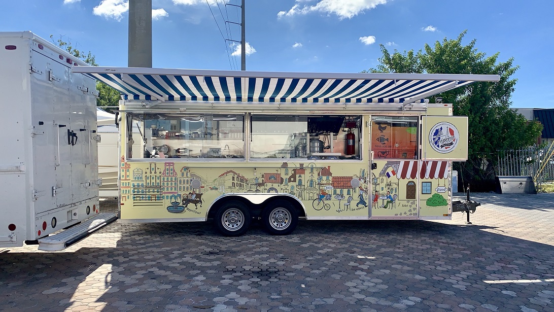 Brand New 20 Food Trailer With 2007 Ford Van For Sale In Miami Fl Food Truck Empire