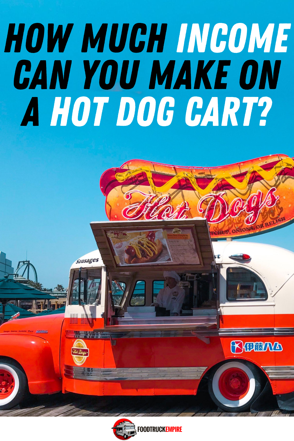 income on hot dog cart