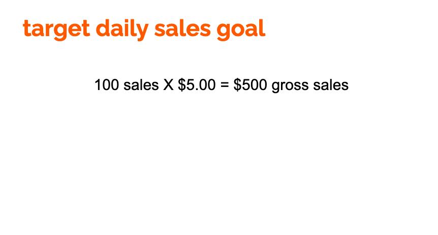 sales goal