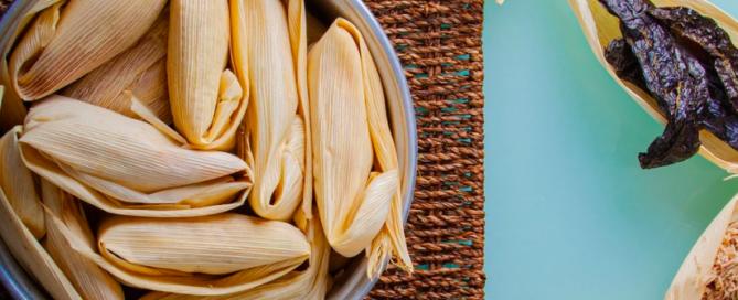 tamales in pot
