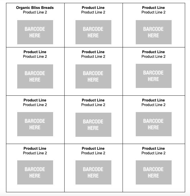 upc barcode template